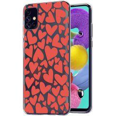 iMoshion Design hoesje Samsung Galaxy A51 - Hartjes - Rood