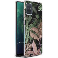 iMoshion Design hoesje Samsung Galaxy A71 - Jungle - Groen / Roze