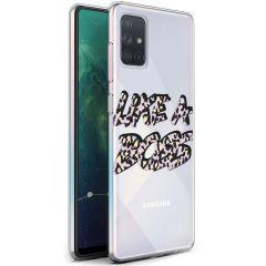 iMoshion Design hoesje Galaxy A71 - Like A Boss - Paars / Zwart