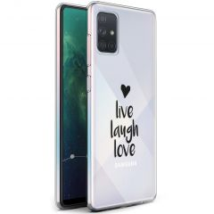 iMoshion Design hoesje Samsung Galaxy A71 - Live Laugh Love - Zwart