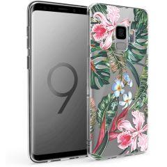 iMoshion Design hoesje Samsung Galaxy S9 - Jungle - Groen / Roze