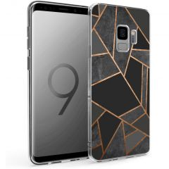 iMoshion Design hoesje Galaxy S9 - Grafisch Koper - Zwart / Goud