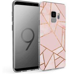 iMoshion Design hoesje Galaxy S9 - Grafisch Koper - Roze / Goud