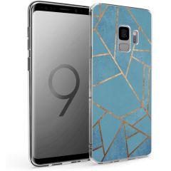 iMoshion Design hoesje Galaxy S9 - Grafisch Koper - Blauw / Goud