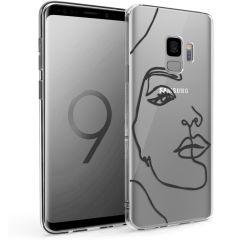 iMoshion Design hoesje Samsung Galaxy S9 - Abstract Gezicht - Zwart