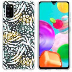 iMoshion Design hoesje Galaxy A41 - Jungle - Wit / Zwart / Groen