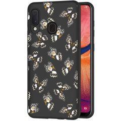 iMoshion Design hoesje Samsung Galaxy A20e - Vlinder - Zwart / Wit