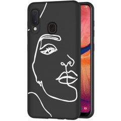 iMoshion Design hoesje Samsung Galaxy A20e - Abstract Gezicht - Wit