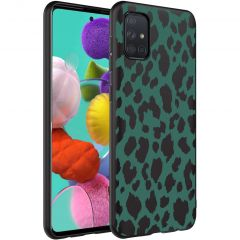 iMoshion Design hoesje Samsung Galaxy A71 - Luipaard - Groen / Zwart