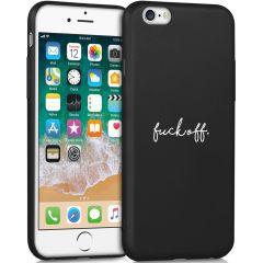 iMoshion Design hoesje iPhone 6 / 6s - Fuck Off - Zwart