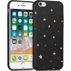 iMoshion Design hoesje iPhone 6 / 6s - Sterren - Zwart / Goud