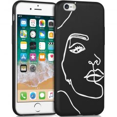iMoshion Design hoesje iPhone 6 / 6s - Abstract Gezicht - Wit / Zwart