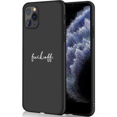 iMoshion Design hoesje iPhone 11 Pro - Fuck Off - Zwart