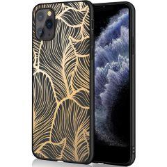 iMoshion Design hoesje iPhone 11 Pro - Bladeren - Goud / Zwart