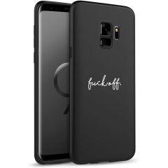 iMoshion Design hoesje Samsung Galaxy S9 - Fuck Off - Zwart