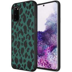 iMoshion Design hoesje Samsung Galaxy S20 - Luipaard - Groen / Zwart
