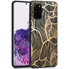 iMoshion Design hoesje Galaxy S20 Plus - Bladeren - Goud / Zwart