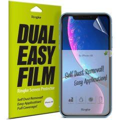 Ringke Dual Easy Anti-Stof Screenprotector Duo Pack iPhone 11 / Xr
