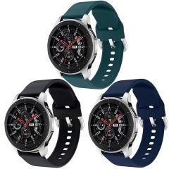 iMoshion Siliconen bandje 3pack Watch46/S3 Frontier/Classic/Watch3 45 - Zwart / Groen / Blauw