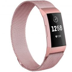 iMoshion Milanees Watch bandje Fitbit Charge 3 / 4 - Rosé Goud