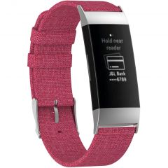 iMoshion Nylon bandje Fitbit Charge 3 / 4 - Roze