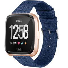 iMoshion Nylon bandje Fitbit Versa 2 / Versa Lite - Blauw