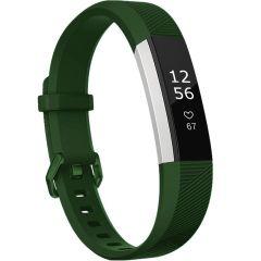 iMoshion Siliconen bandje Fitbit Alta (HR) - Donkergroen
