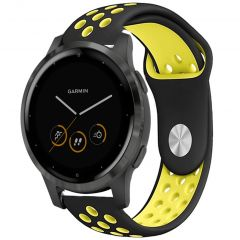iMoshion Siliconen sport bandje Garmin Vivoactive 4L - Zwart / Geel