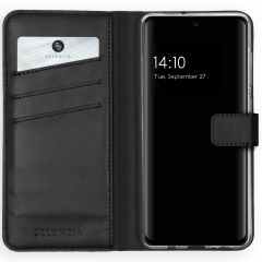 Selencia Echt Lederen Booktype Samsung Galaxy A51 - Zwart