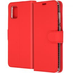 Accezz Wallet Softcase Booktype Samsung Galaxy A31 - Rood