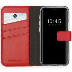 Selencia Echt Lederen Booktype iPhone 12 Mini - Rood