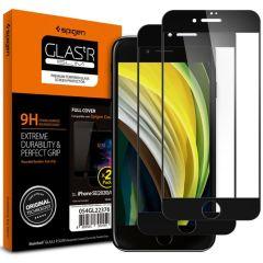 Spigen GLAStR Screenprotector Duo Pack iPhone SE (2020) / 8 / 7