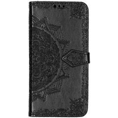 Mandala Booktype Samsung Galaxy A50 / A30s - Zwart