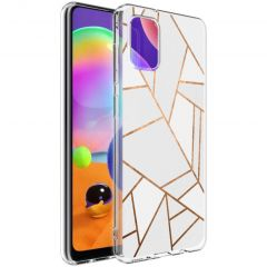 iMoshion Design hoesje Galaxy A31 - Grafisch Koper - Wit / Goud