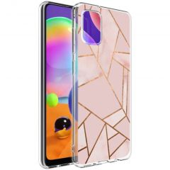 iMoshion Design hoesje Galaxy A31 - Grafisch Koper - Roze / Goud