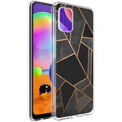 iMoshion Design hoesje Galaxy A31 - Grafisch Koper - Zwart / Goud