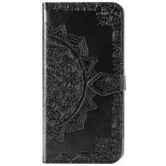 Mandala Booktype iPhone 12 (Pro) - Zwart