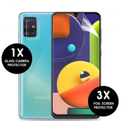 iMoshion Screenprotector Folie 3 Pack + Camera Protector Galaxy A51