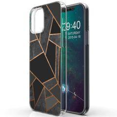 iMoshion Design hoesje iPhone 12 (Pro) - Grafisch Koper - Zwart