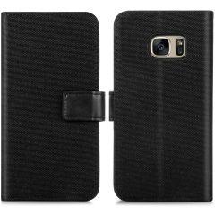 iMoshion Luxe Canvas Booktype Samsung Galaxy S7 - Zwart