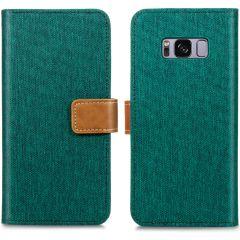 iMoshion Luxe Canvas Booktype Samsung Galaxy S8 - Groen