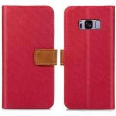 iMoshion Luxe Canvas Booktype Samsung Galaxy S8 - Rood