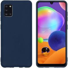 iMoshion Color Backcover Samsung Galaxy A31 - Donkerblauw