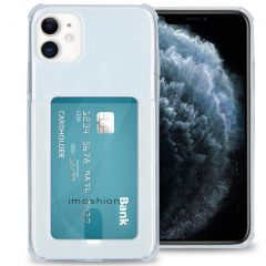 iMoshion Softcase Backcover met pashouder iPhone 11 - Transparant