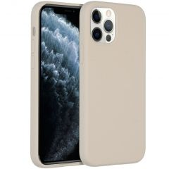 Accezz Liquid Silicone Backcover iPhone 12 (Pro) - Stone