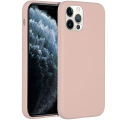Accezz Liquid Silicone Backcover iPhone 12 (Pro) - Roze