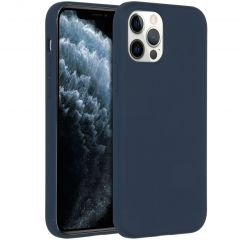 Accezz Liquid Silicone Backcover iPhone 12 (Pro) - Donkerblauw