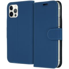 Accezz Wallet Softcase Booktype iPhone 12 (Pro) - Blauw