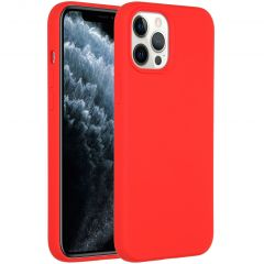 Accezz Liquid Silicone Backcover iPhone 12 Pro Max - Rood