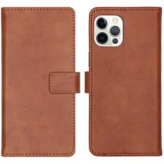 iMoshion Luxe Booktype iPhone 12 (Pro) - Bruin